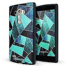 LG G4 case,Lizimandu soft TPU textured pattern Case for LG G4(Green Fragment)
