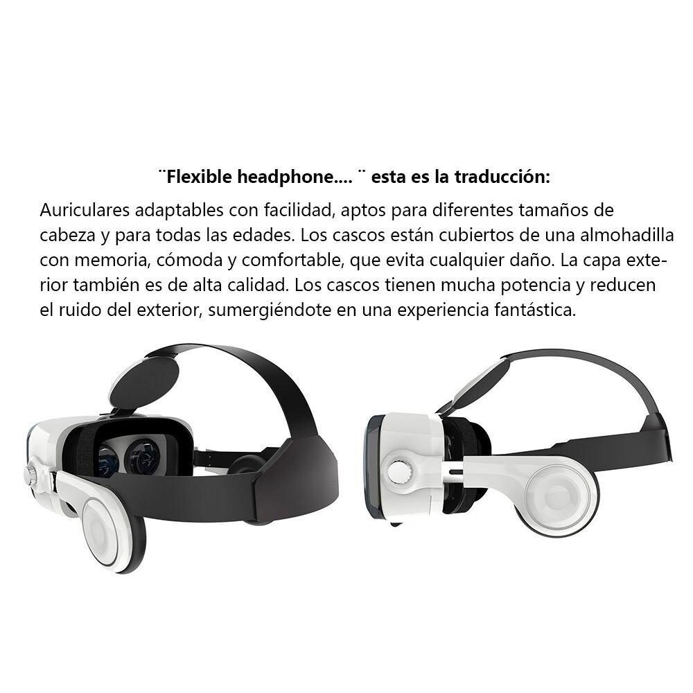 Uvistar Gafas VR 3D con Remoto Controlador Auriculares VR 3D Realidad virtual Caja con Ajustable Lente y Correa for iPhone Android / IOS etc 4.7-6.0 inch ...