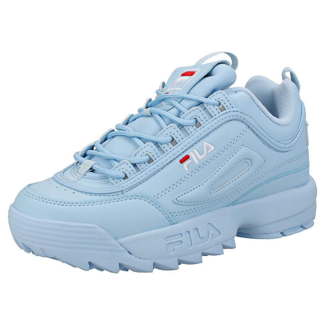 Fila Disruptor Ii Premium Womens Trainers Light Blue White ...
