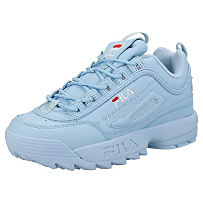 9715b0d8a7e0 Fila Disruptor Ii Premium Womens Trainers Light Blue White - 8 UK ...