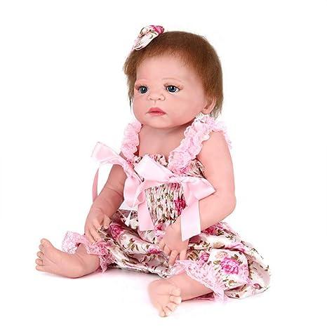 CRYPIN Simulación muñeca suave silicona bebé niños juguetes