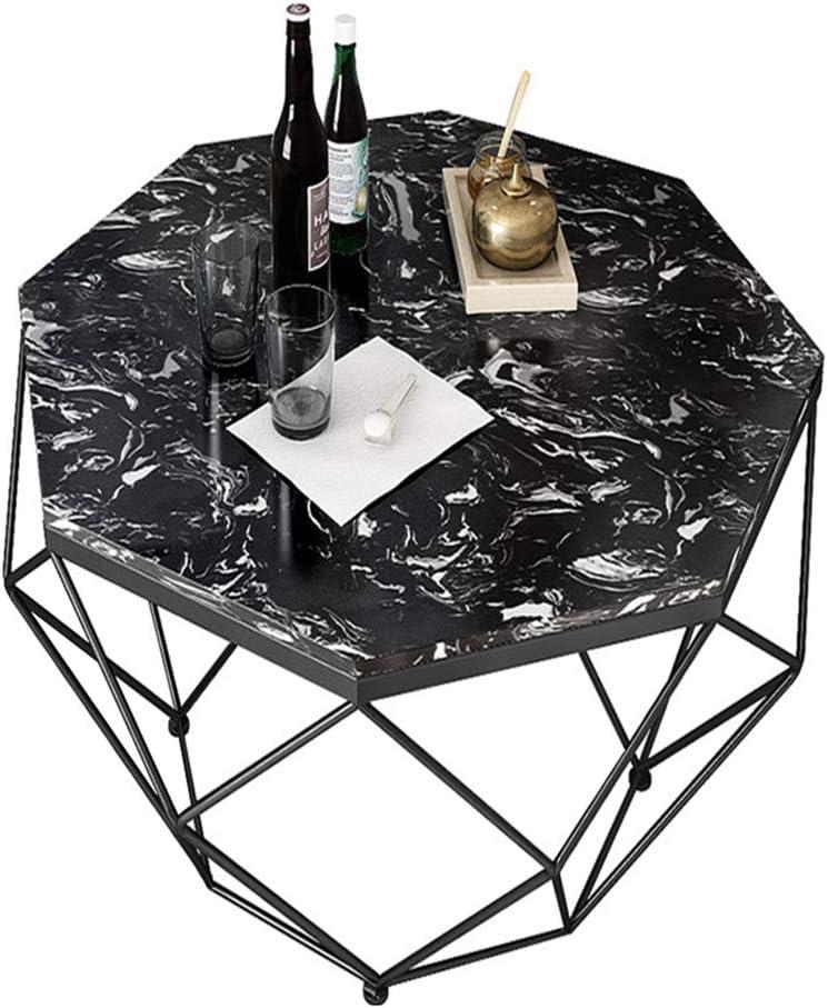 Bijzondere Korting Moderne ronde theetafel salontafels voor kleine ruimtes, marmeren top, metalen frame, Ø57cm(57,1 cm) x45cm(45,0 cm) A hk5f248