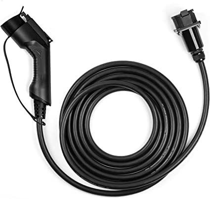 32A Extension Cord 20 Feet EV Charging Cable Extension Cord J1772 Electric Vehicle Charging Stations