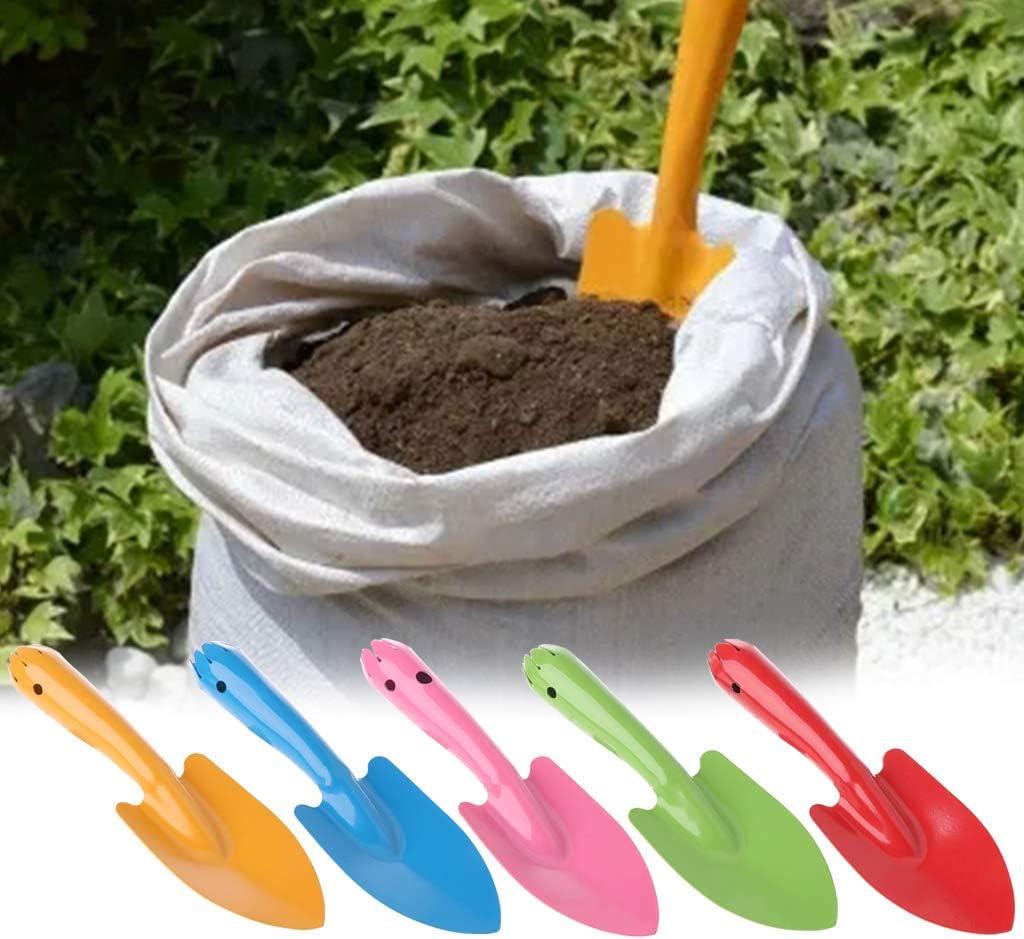 Erde Gartenschaufel Ycncixwd Mini-Gartenhandwerkzeug Spaten aus Metall f/ür Kinder gr/ün Gartenschaufel Pflanzen Blumen