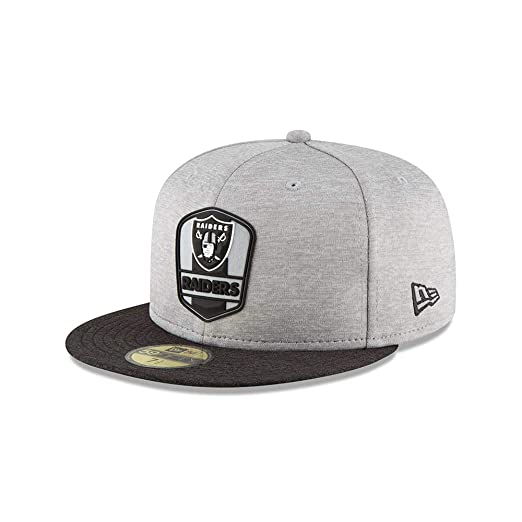 New Era Oakland Raiders NFL Sideline 18 Road On Field Cap 59fifty Fitted OTC a302ed94862c