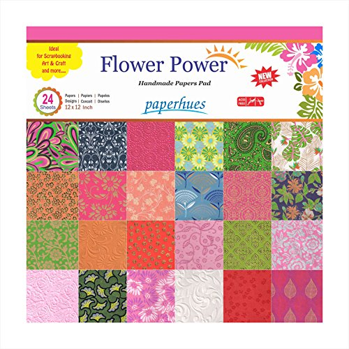 Paperhues Flower Power Scrapbook Papers 12x12