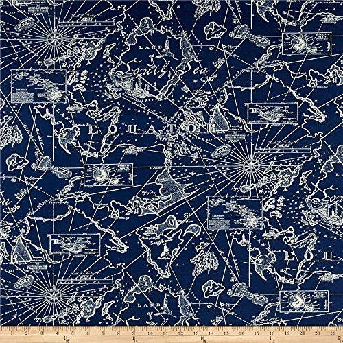 Tommy Bahama Indoor/Outdoor South Seas Fabric, Nautical