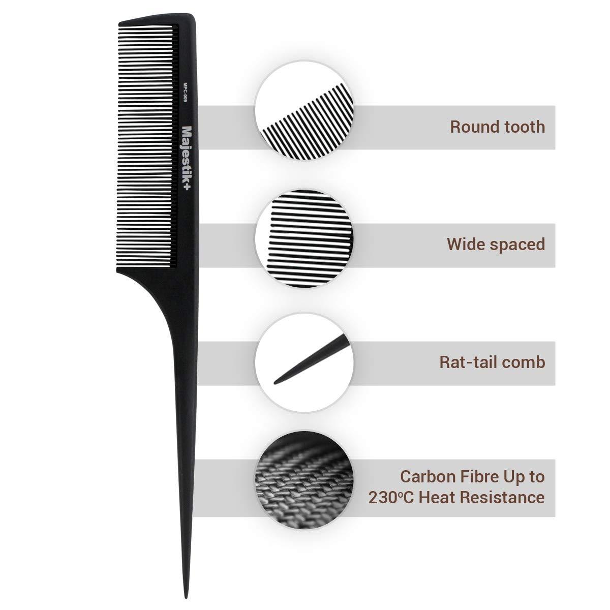 k + Premium pettine in acciaio al carbonio, per maggiore resistenza e durata (Nero) JLS Personal Care Ltd. MPC