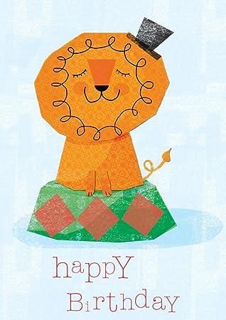 Löwe Geburtstagskarte: Amazon.de: Bürobedarf & Schreibwaren