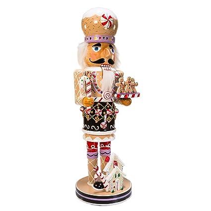 kurt adler 16-inch wooden and polyresin gingerbread nutcracker ...