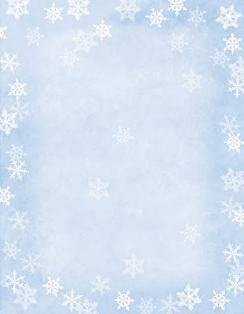 hortense b hewitt 80 pack sheets winter flakes decorative paper - Decorative Paper