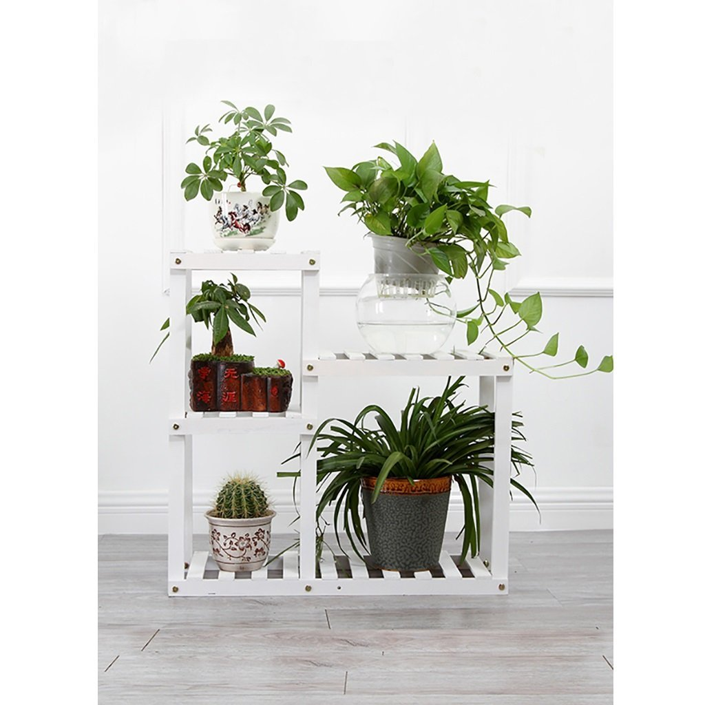 JHZWHJ Wooden Flower Rack Indoor Plant Stand Wooden Plant Flower Display Stand Wood Pot Shelf Storage Rack Outdoor (Color : C1)