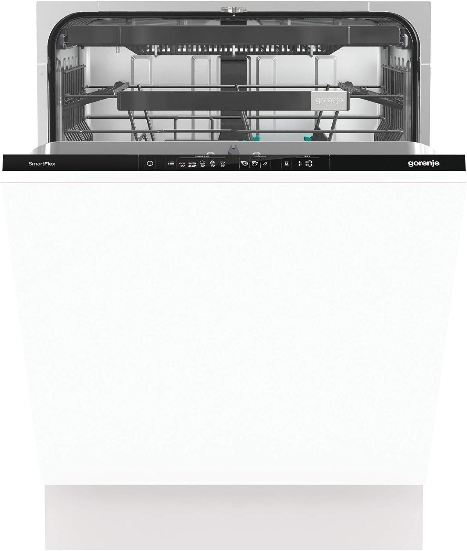 Gorenje Lavavajillas GV 671C 60 totalmente integrado, 60 cm, 16 plazos a medida, cesta superior de altura regulable, SpeedWash en 15 minutos, programas automáticos, apertura automática de la puerta