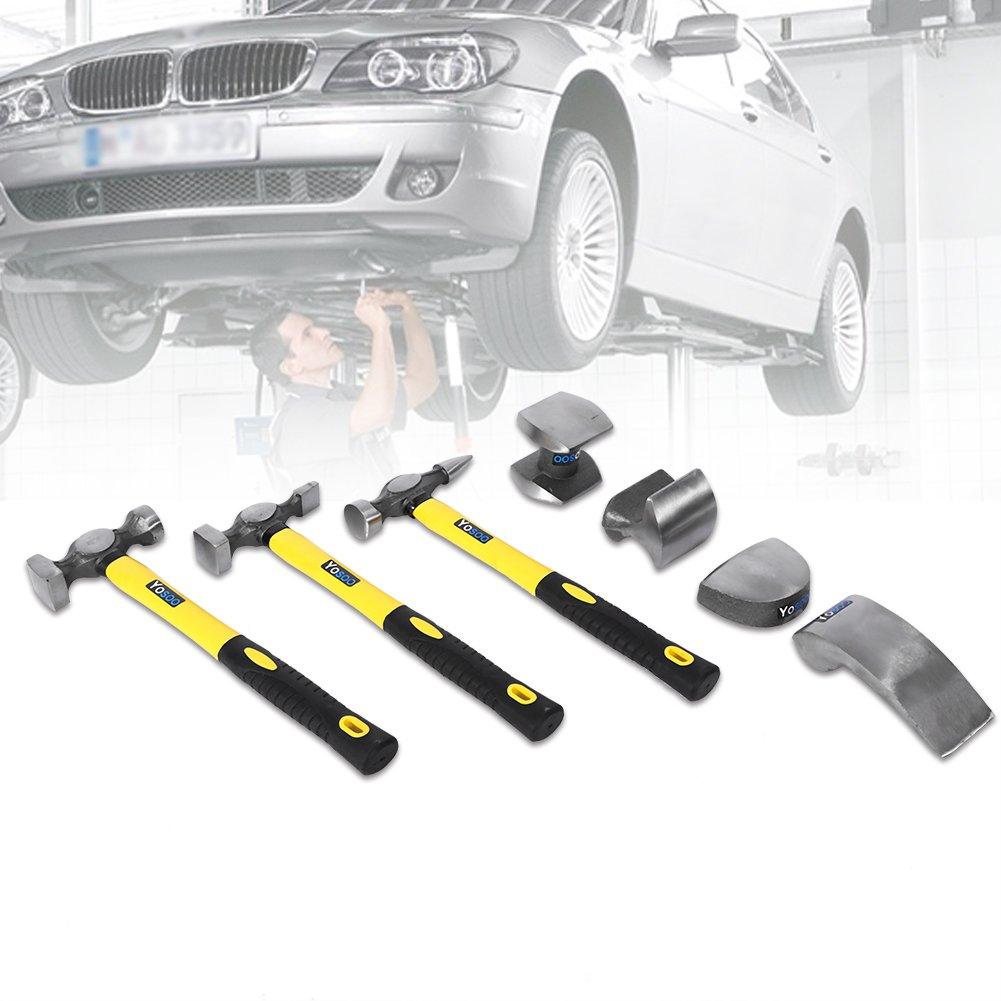 riparazione Dent di paintless carrozzeria Utensile estrattore Riparazione di auto automobilistica Rayure soppressione Dent Kit ritiro Kit da carrozziere 7 pz composto