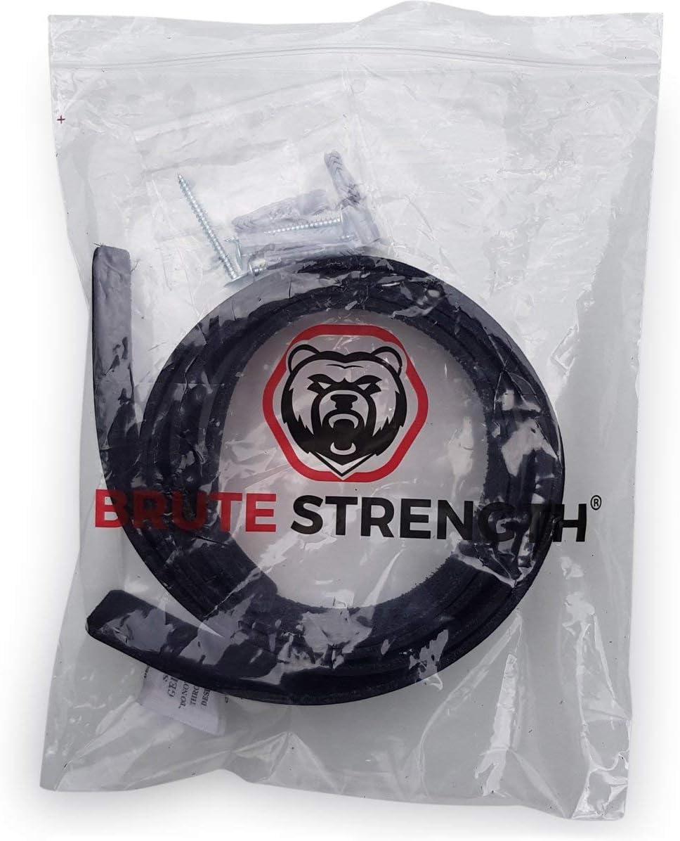 Piel, 2 Unidades Color Negro Soporte para estanter/ías Brute Strength