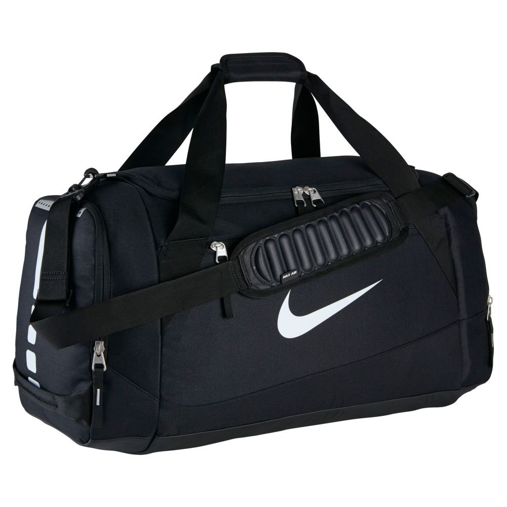 Amazon.com  Nike Hoops Elite Team Black Duffel Gym Bag for Men and Women   Sports   Outdoors a1587884d5