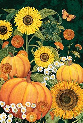 - Toland Home Garden Sunny Pumkins 12.5 x 18 Inch Decorative Fall Harvest Pumpkin Garden Flag