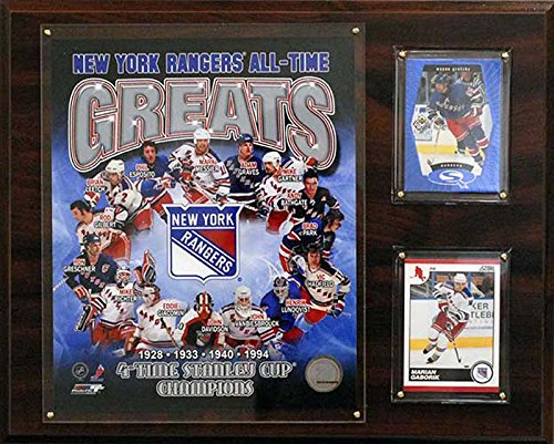 CandICollectables 1215NYRGR NHL 12 x 15 in. New York Rangers All-Time Great Photo Plaque from CandICollectables
