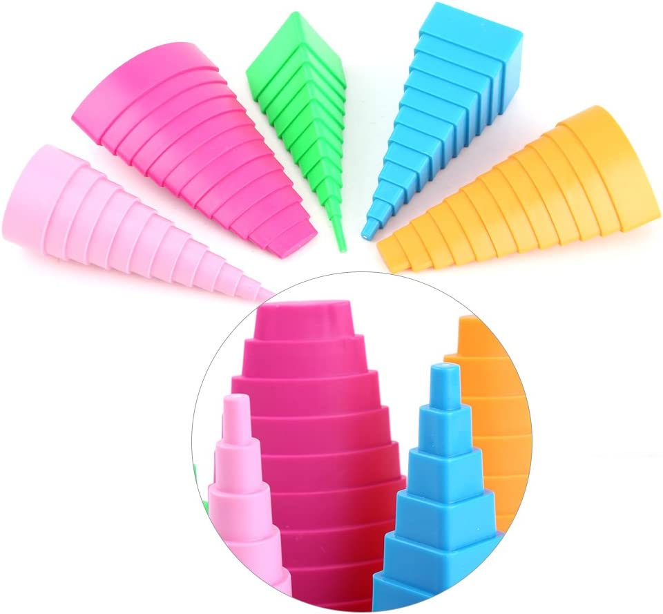Mixed Color 5 Shapes Towers for DIY Paper Creations Craft Tools Quilling Creative Border Buddy