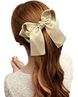 OverDose Women Girls Cute Large Big Satin Hair Hair Clip Boutique Ribbon Bow