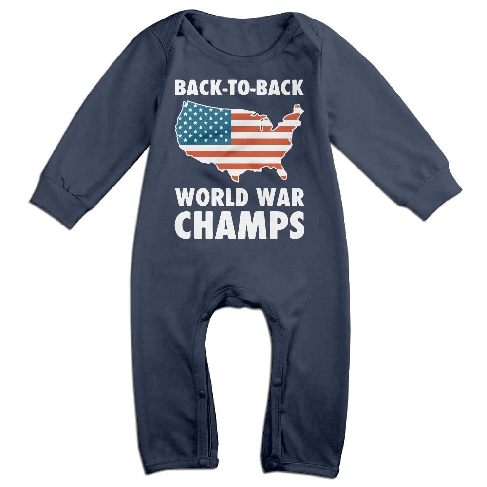 Newborn Kids Bodysuits Back to Back World War Champs Kid Pajamas