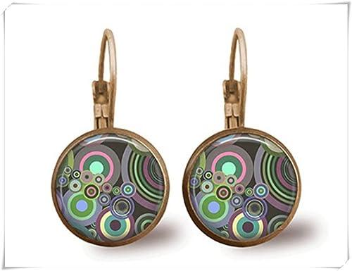 acquistare vendita più calda il prezzo rimane stabile Tile orecchini retro retro gioielli in ottone orecchini ...