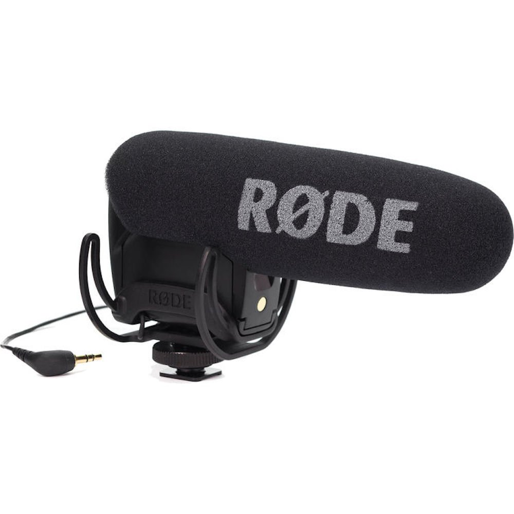 Rode VideoMicPro Compact Directional On-Camera Microphone with Rycote Lyre Shockmount by Rode