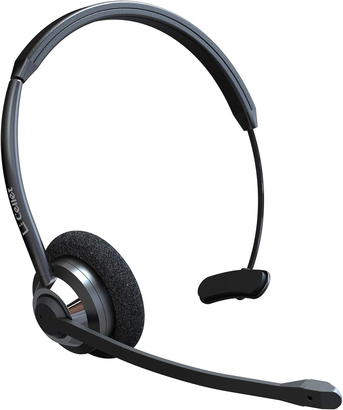 Cellet Hands Free Wireless Bluetooth Headset Noise Cancelling Adjustable On Ear Piece with Boom Microphone Ideal for Office Truck Drivers Travel Work Customer Service Call Center