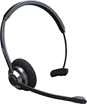 Amazon Com Cellet Hands Free Wireless Bluetooth Headset Noise Cancelling Adjustable On Ear Piece With Boom Microphone Ideal For Office Truck Drivers Travel Work Customer Service Call Center Electronics