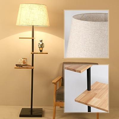 Salon Minimaliste Américain Creative Moderne Massif Bois Lampadaire ucKTl3F1J