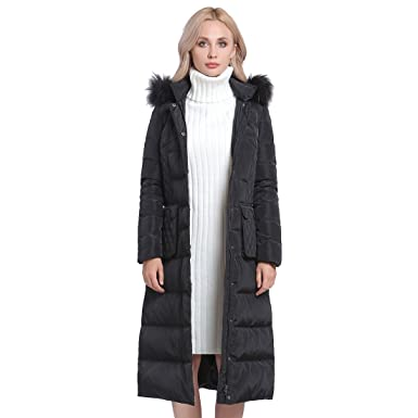 2d0e23ef620 MSVASSA Women s Winter Down Quilted Padded Jackets Long Puffer Coats Plus  Size with Faux Fur Hood
