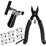 A AKRAF Bicycle Chain Repair Tool Kit with Bike Link Plier, Chain Breaker Splitter Tool, 6 Pairs Bicycle Missing Links, Bicyc
