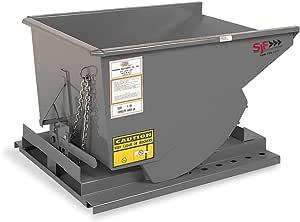 """Medium Duty Self Dumping Hopper - 3/4 cu yd - 2000# cap. 41""""W x 59.5""""L x 34.5""""H - Grey"""