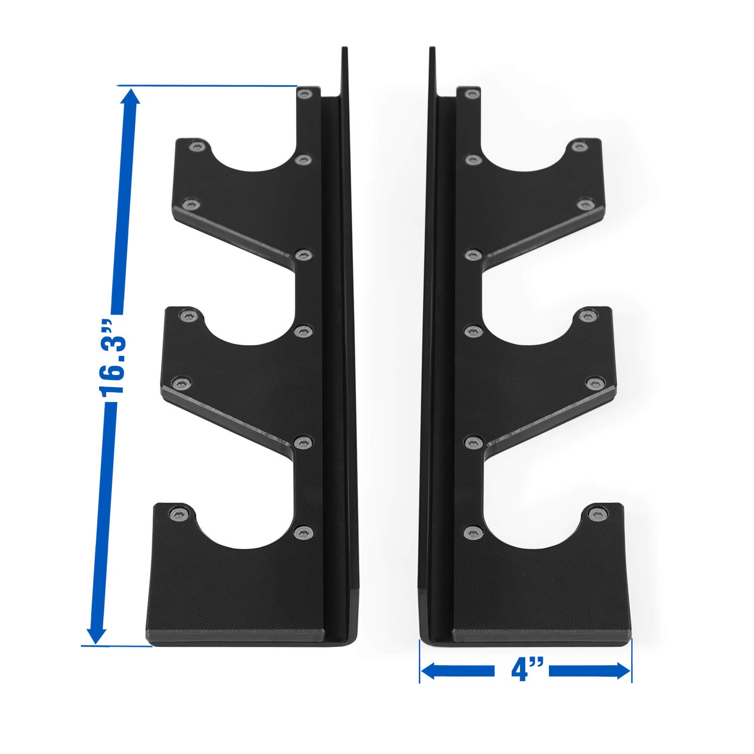 Yes4All Horizontal Wall Mounted Olympic Barbell Rack, 3 Bar or 6 Bar Options Pair