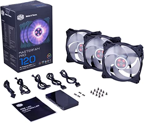 Cooler Master MFY-P2DC-153PC-R1 MasterFan Pro 120 Air Pressure RGB 120mm Static