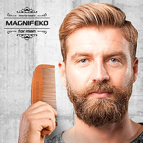 beard comb and brush grooming set for men home travel grooming kit natural handmade boar. Black Bedroom Furniture Sets. Home Design Ideas
