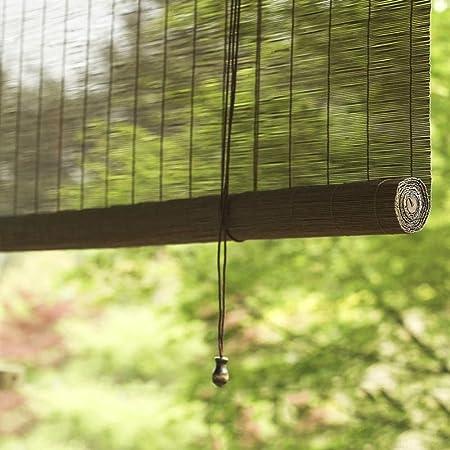Persianas Enrollables Para Exteriores Granate Con Tirador Lateral Patio De Jardín Gazebo Exterior Cortina Enrollable Cortina De Bambú,W150cmXH150cm: Amazon.es: Hogar