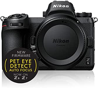 Nikon Z Series Z6 Body Only, Black (VOA020AA)