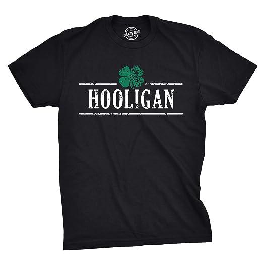 f143ad334 Mens Irish Clover Hooligan Funny Drinking Saint Patricks Day T Shirt  (Black) S