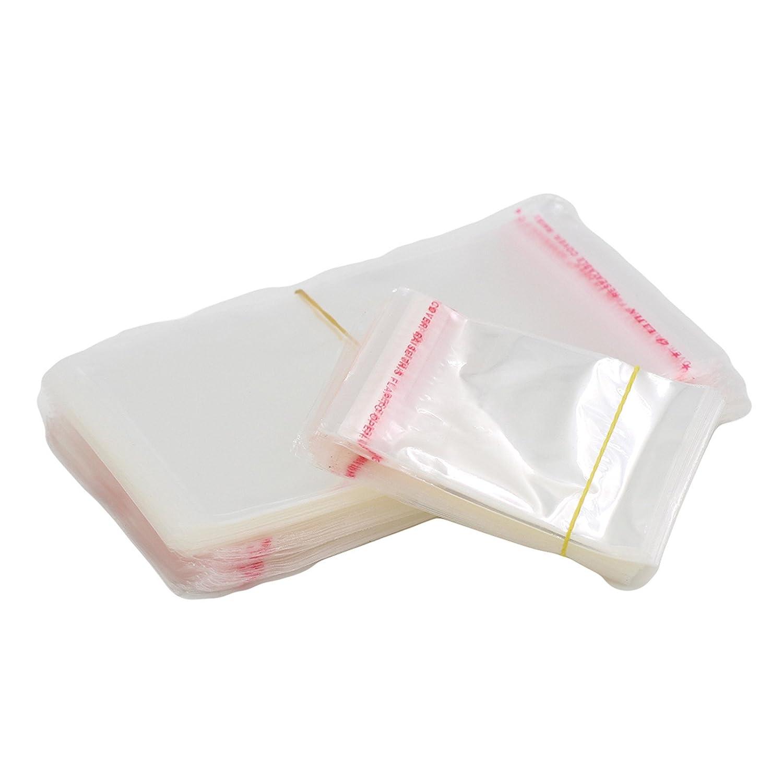 13/×16CM G/én/ériques OPP sacs transparents Puissance Pochettes auto Joint Adh/ésif Bijouterie Poly emballage plastique 100pcs