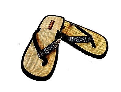 Trendige Sommer Binsen Latschen BOHO HIPPIE Styles