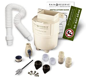 RainReserve 2012303 Rain Barrel Complete Diverter Kit (Barrel Not Included)