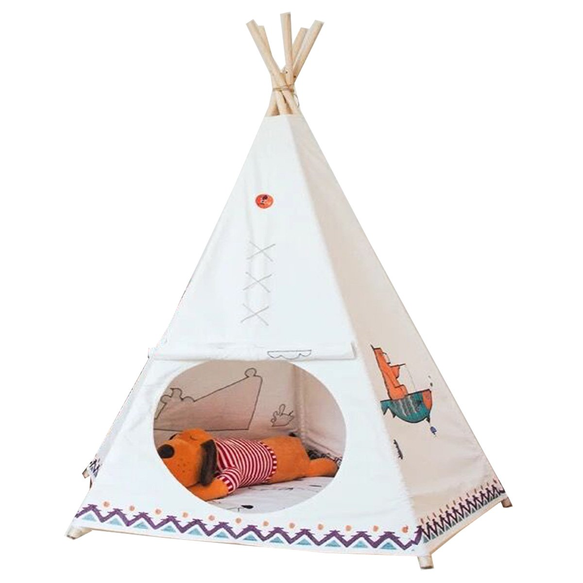 Free Love @Hot selling New design children game room indian Teepee tent