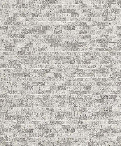 Brick Grey Wood Stone Wallpaper Sample Modern Urban Chic Wall Decor