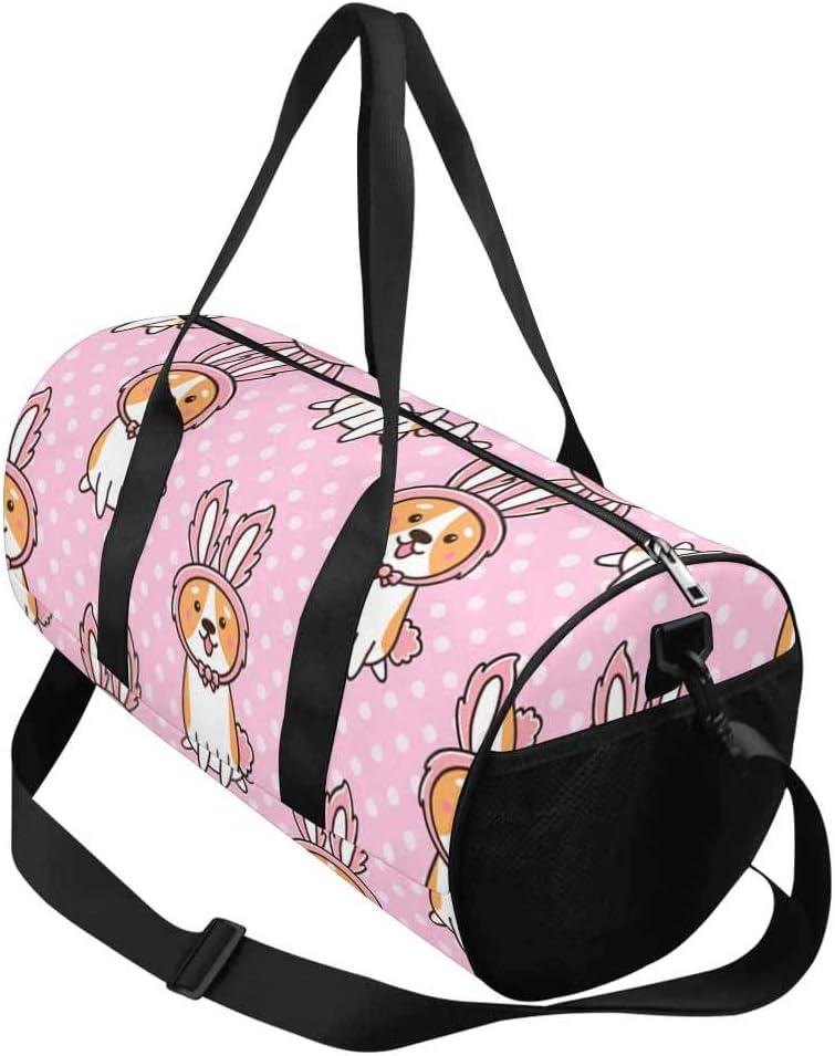 INTERESTPRINT Cute Dog Breed Welsh Corgi Outdoor Sports Travel Duffel Bag