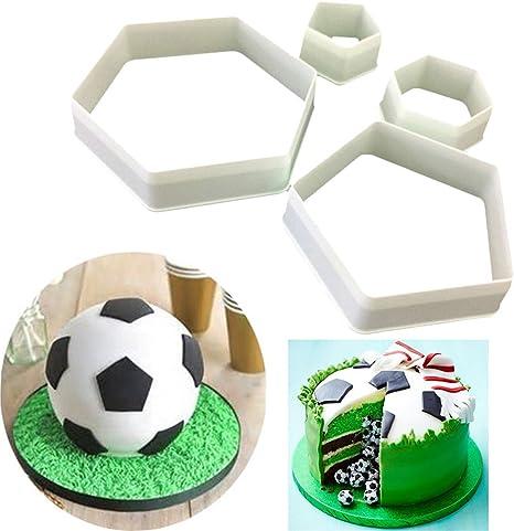 Yovvin - Juego de 4 moldes de futbolín de fútbol, moldes para ...