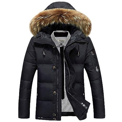 finest selection de24a a46e8 WUYEA Cappotto Invernale Uomo Caldo Giacca Fashion Hooded ...