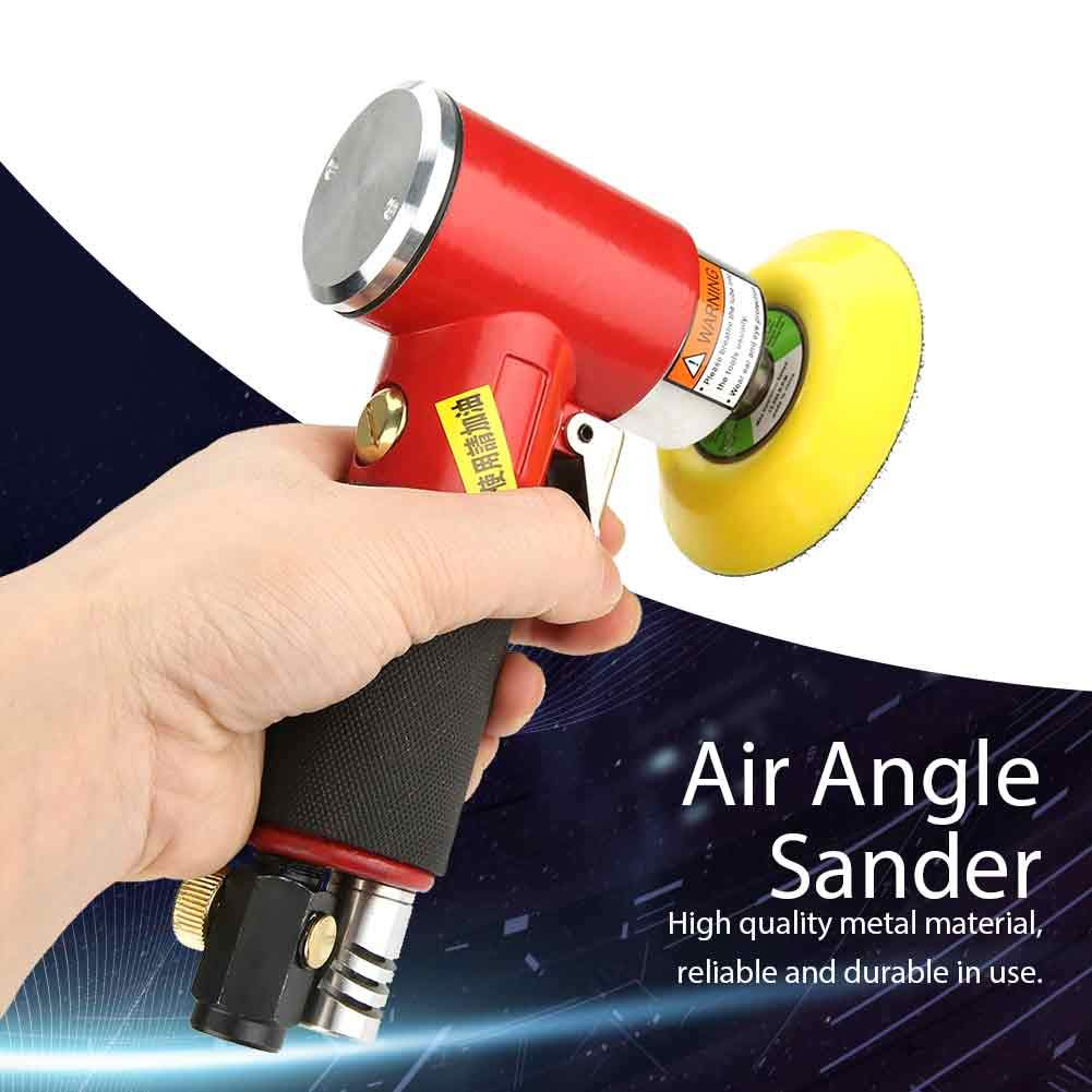 Pneumatic Air Angle Sander Grinder Polisher Handheld Polishing Tool 15000rpm//16000rmp for Small Area Hardware Furniture Plastics Paint Polishing Products M6