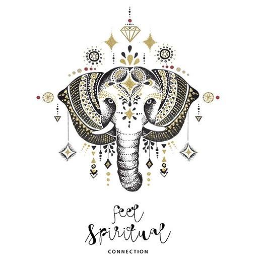 RUST Weihpe Mandala Elefante Tatuajes de Pared Dormitorio ...
