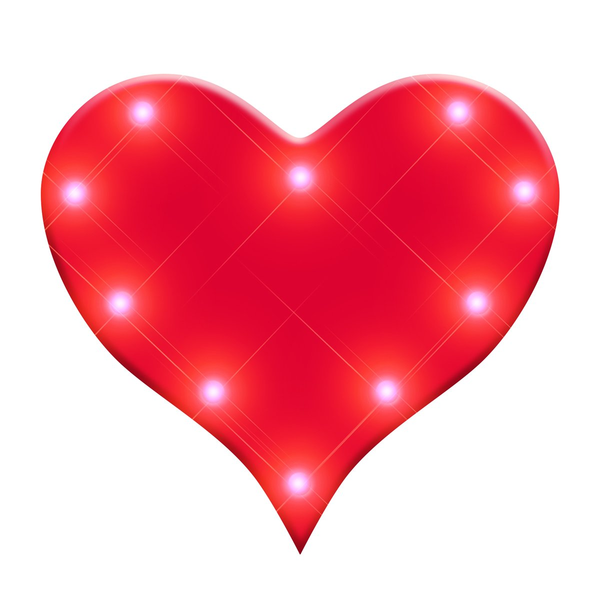 Light Up Perfect 10 Heart Flashing Blinking LED Body Light Lapel Pins (25-Pack)